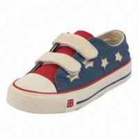 Children's Casual Shoe with Canvas Upper and Rubber Outsole Manufactures