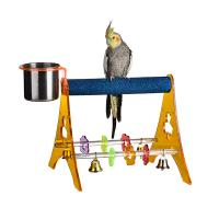 acrylic portable play gym bird stands with stainless steel cup,large Manufactures