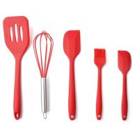 High Quality Silicone Kitchen Utensil Set 5 Piece Cooking Tools Utensils Brush Kitchen Accessories Manufactures