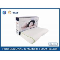 High Concave Side Sleeper Memory Foam Pillow with Jacquard Tencel Pillow case , Color Box Manufactures