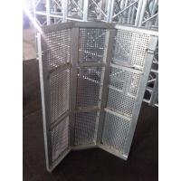 Security Crowd Safety Barriers Silver Temporary Road Barriers For Outdoor Party Manufactures