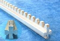 1050mm long hard aluminum alloy Greenhouse rack and pinion for continuous ventilation windows Manufactures