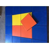 Play Ground Outdoor Rubber Mats Multicolor Square Tile 500x500x(15-50)Mm Manufactures