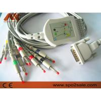 Quality Schiller AT-1 one-piece 10 lead EKG cable and leadwire with banana4.0 for sale