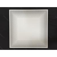Quality 600 x 600 Fireproof Acoustic Ceiling Tiles, Aluminum Perforated Ceiling panel for Decoration for sale
