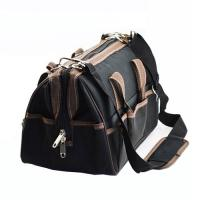 Heavy Duty Zippered Tool Bag Black Multi Functional Electrical Tool Bags Manufactures