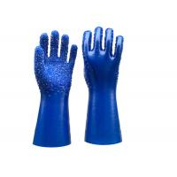 Single Dipped PVC Dotted Gloves Gauntlet Interlock Liner Stable Working Manufactures