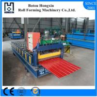 Galvanized Sheet Metal Roller Machine, 910mm Cover Width Metal Roof Panel Machine Manufactures