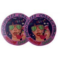 China Round Custom Shining Coated Labels Hang Tags , labels hang tags on sale