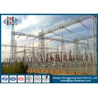 Power Transformer Substation Steel Structures Conical , Round Manufactures