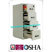 UL Vertical Metal Fire Resistant Filing Cabinets Fireproof 4 Drawers For Storing Documents Manufactures