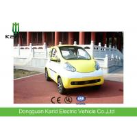 Yellow Lightweight 2 Seater Mini Electric Car With Permanent Magnet Synchronous Motor Manufactures
