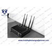 Adjustable High Range Mobile Jammer , Cell Phone Signal Jammer Shielding Radius 40m Manufactures