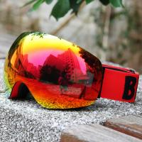 REVO Red Lens Color Ski Snowboard Goggles Elastic Strap For Clear And Clean Vision Manufactures