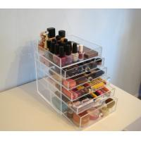 China acrylic cube makeup organizer with drawers on sale