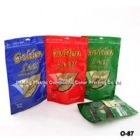 Custom Design Standing / Stand Up Pouch Plastic Zipper Bags For Cigar Packaging Manufactures