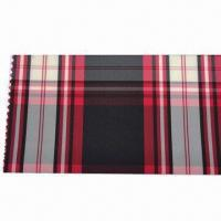 75 x 75D polyester yarn dyed plaid lining fabric, used for suits and jackets Manufactures