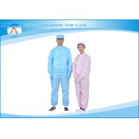 China Anti Static Clean Room Uniform Washing resistance and Dustproof on sale