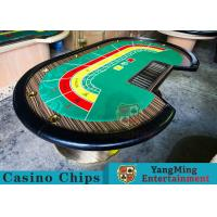 8 Person Casino Luxury Poker Table With Thick Black Camphor Wood Fire Panel Manufactures