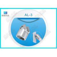 45 Degree Flexible aluminum pipe connectors Die casting AL -3 Anodizing Silver Manufactures