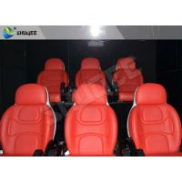 Hydraulic Dynamic 5D Theater System Red Motion Chairs With Special Effect Manufactures