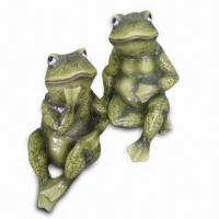 Ceramic Frog for Garden Decoration with Hand-painted Design, OEM is Accepted, Meets Cpsia/EN71 Manufactures
