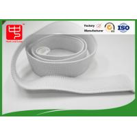 China White Elastic Hook And Loop Straps With 100% Nylon Material No Pollution on sale