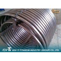 Alloy Seamless Titanium Pipe Gr2 ASTM B338 For Oil And Gas Extraction Manufactures