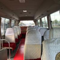 China Japan used Toyota Coaster coach bus with diesel engine/AC at cheap price for sale hot sale for sale