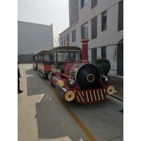 Big Trackless Sightseeing Train  Amusement Equipment  42 Seats 28 Km/h Manufactures