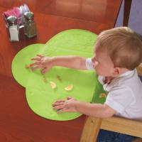 Not Drop Out LFGB  Silicone Baby Bibs Placemat With Suction Cup Design Manufactures