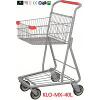 Chrome Plating Grocery Shopping Trolley 40L / Supermarket Shopping Carts Manufactures