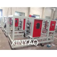 China Automatic Plastic pipe cutting machine for pipe extrusion line Working by saw blade on sale