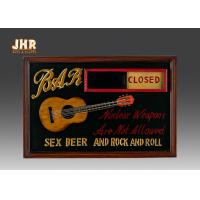 Open And Close Signs Special Wooden Wall Plaques For Shops Manufactures