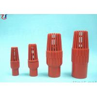 Red PVC Water Foot Valve Plastic Bottom Valve Manufactures