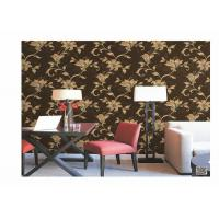 Home Decoration PVC Embossed Wallpaper Waterproof With European Flower Manufactures