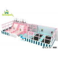 Huge Children Indoor Playground Macaron Theme / Toddler Play Equipment Manufactures