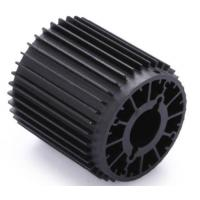 CNC Machining Extrusion Aluminum LED Lamp Heat Sink with Black Anodized Manufactures