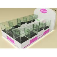 Fully Lockable Wood Glass Jewelry Showcase Kiosk , Retail Commercial Display Cases Manufactures