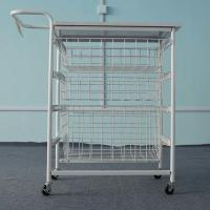 China Multi Useness Custom Display Racks Logistics Tool Trolley With Wire Basket Drawer on sale