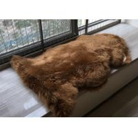 Real Australia Sheepskin Dark Brown Dyed Thick Long Australia Wool Carpet rug Manufactures