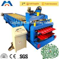 Glazed Roof Tile Double Layer Roll Forming Machine Width 1200mm / 1220mm Manufactures