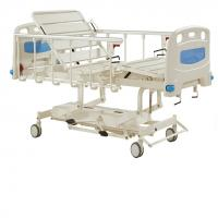 China Durable Long Life Manual Hospital Bed Five Functions , Hydraulic Care Bed Nursing Care Bed on sale