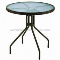 Recreation table/bistro set/recreation tempered glass table