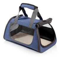 Navy Blue Color Puppy Carry Bag , Dog Travel Bag Washable Large Capacity Manufactures