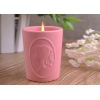 Character Candle Cup Holders Ceramic Candle Containers With Candle Light