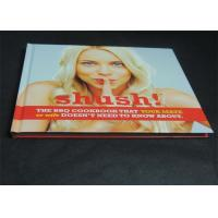 Glossy Paper Lamination Embossed Cookbook Hardcover Book Printing 350gsm Manufactures