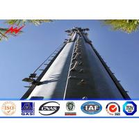 China Square 160 ft Lattice Transmission Tower Steel Structure With Single Platform on sale
