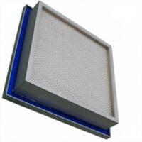 ULPA High Sealing HEPA Air Filter Aluminum Frame For Hospital / Pharmaceutical Manufactures