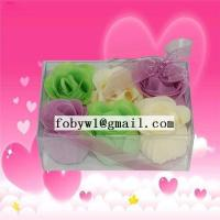 China PVC packing soap flowers on sale